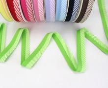 3m Schrägband - Zweifarbig - Streifen - Grün