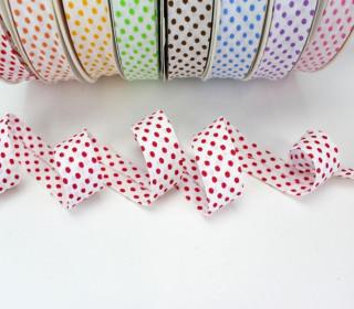 3m Schrägband - Punkte - Pink