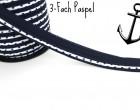 3 Meter 3-Fach Paspelband/Biesenband - Punkte
