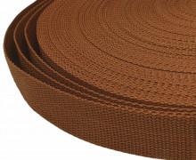1 Meter Gurtband - Braun (299) - 25mm