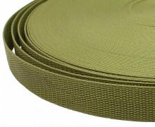 1 Meter Gurtband - Olive (263) - 25mm