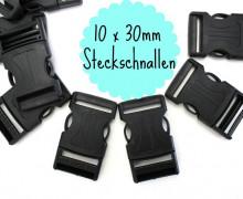 10 x 30mm Steckschnalle zum Regulieren - A