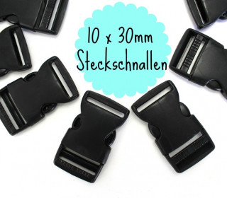 10 x 30mm Steckschnalle zum Regulieren