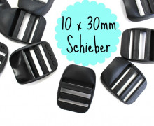 10 x 30mm Schieber aus Kunststoff
