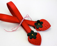 Taschengriffe Erdbeere - 2 Taschengriffe - 50cm