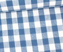 Vichy Stoff - Große Karos - Bauernkaros - 10mm x 11mm - Blau