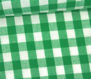 Vichy Stoff - Große Karos - Bauernkaros - 10mm x 11mm - Grün