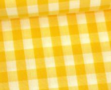 Vichy Stoff - Große Karos - Bauernkaros - 10mm x 11mm - Gelb