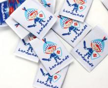 "10 fertige Handmade Label ""ElbRitter"" zum aufnähen"