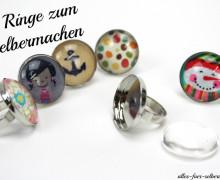 5 Ringe - DIY Set - zum selbermachen - groß