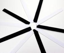 10x20cm - Klettverschlüsse - Schwarz / Weiß