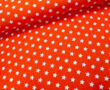 Baumwollstoff - Kleine Sterne - Orange