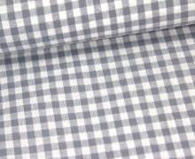 Vichy Stoff - Mittlere Karos - 4mm x 5mm - Grau