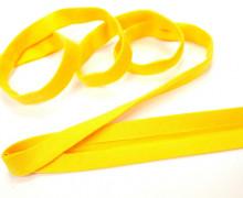 3 Meter elastisches Schrägband - 15mm - Jersey - Gelb