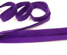 3 Meter elastisches Schrägband - 15mm - Jersey - Lila