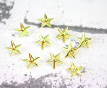 10 Nieten - Sterne - Gold - Klein