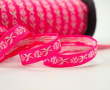 Webband - Vintage Blumen - Flower - Pink