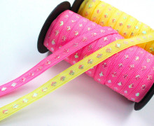 Webband - Glitter Dots - Glitzer Punkte - Rosa