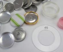20 Knopfrohlinge für Stoffknöpfe - 28mm - DIY SET