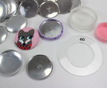 20 Knopfrohlinge für Stoffknöpfe - 37mm - DIY SET