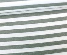 Viskose Jersey - Streifen - 9mm - Grau/Weiß
