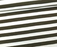 Viskose Jersey - Streifen - 9mm - Taupe/Weiß