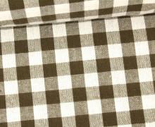 Vichy Stoff - Große Karos - Bauernkaros - 10mm x 11mm - Braun