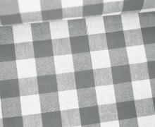 Vichy Stoff - Riesen Karos - Bauernkaros - 17mm x 17mm - Grau