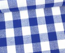 Vichy Stoff - Webware - Riesen Karos - Bauernkaros - 17mm x 17mm - Blau
