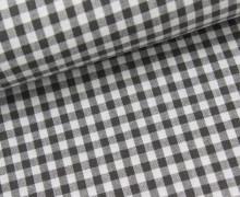 Vichy Stoff - Mittlere Karos - 4mm x 5mm - Dunkelgrau