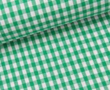 Vichy Stoff - Webware - Mittlere Karos - 4mm x 5mm - Grün