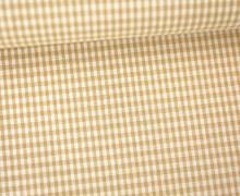 Vichy Stoff - Webware - Kleine Karos - 2mm x 2mm - Beige