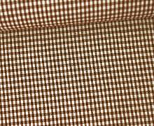 Vichy Stoff - Kleine Karos - 2mm x 2mm - Braun