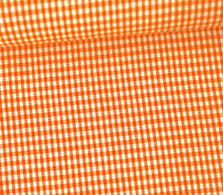 Vichy Stoff - Kleine Karos - 2mm x 2mm - Orange