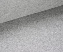 Glattes Bündchen - Schlauchware - Hellgrau Meliert