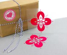 1 Bügelbild - KirschLiebe Blume - Aufbügler - Pink