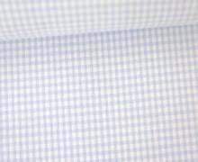 Vichy Stoff - Kleine Karos - 2mm x 2mm - Hellblau