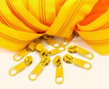 2m Endlosreißverschluss *B + 10 Zipper - Gelb (111)