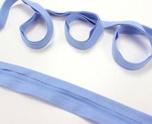 3 Meter elastisches Schrägband - 15mm - Jersey - Hellblau