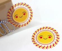 1 Bügelbild - Sonne - Sun - Aufbügler