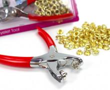 Ösenzange 6mm + 100 Metallösen - Eyeletzange