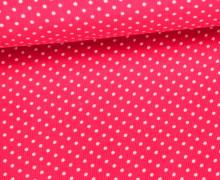 Cord mit kleinen Punkten - Babycord - Pink/Weiß