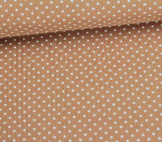 Cord mit kleinen Punkten - Babycord - Beige/Weiß