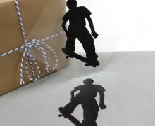 1 Bügelbild - Skater A - Skateboard- Aufbügler