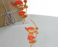 1 Bügelbild - Kleiner Pirat - Piraten - Aufbügler