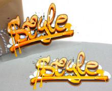1 Bügelbild - Style - Street Art - Aufbügler