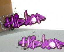 1 Bügelbild - HipHop II - Street Art - Aufbügler
