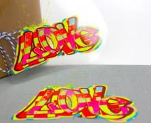 1 Bügelbild - Love II - Street Art - Aufbügler
