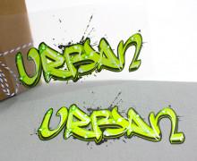1 Bügelbild – Urban – Street Art – Aufbügler