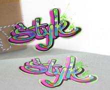 1 Bügelbild - Style II - Street Art - Aufbügler